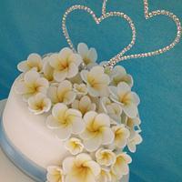 Wedding cake by Tammy