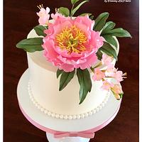~ Blooming Peony Celebration Cake ~