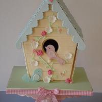 Bird House Cookie