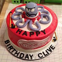 Detroit Redwings Cake
