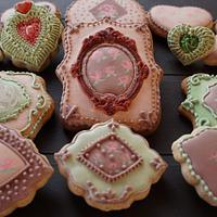 Vintage inspired cookies
