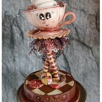 "Steampunk -  ""Steam P Coffee"" -Topper"