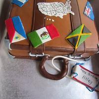 Traveling Suitcase by NickySignatureCakes