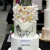 2nd place of wedding cake on Cake Festiwal Poland 😍