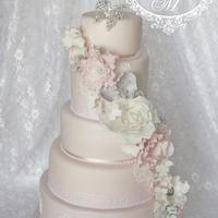 5- tiered Wedding Cake