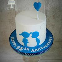 Cute 45th wedding anniversary cake.....