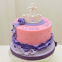 Princess Cake in Purple and Pink