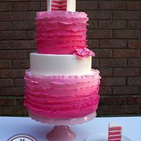 Pink Rainbow Ruffles
