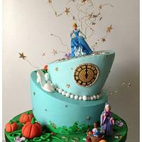 At the stroke of midnight... Cinderella topsy turvy cake