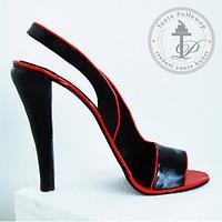 Designer High Heel Shoe Fondant by Donja Baarda
