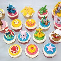 Disney theme cupcakes