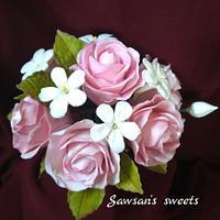 Gumpaste Roses bouquet