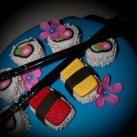Sushi Cake by Nikki Belleperche