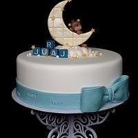 Boy christening cake..