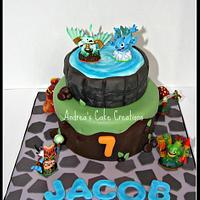 Skylander Cake ! by Andrea'sCakeCreations