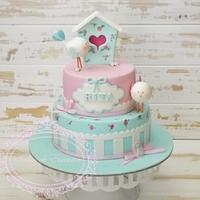 Shabby chic bird house