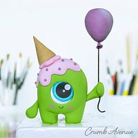 Cute Alien Cake Topper