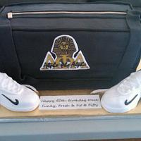 Alpha Phi Alpha gym bag by Erica Floyd Bradley