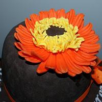An orange gerbera by Lia Russo