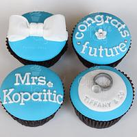 Engagement cupcakes by CupcakeCity