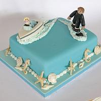Water skiing by Cakes by Christine