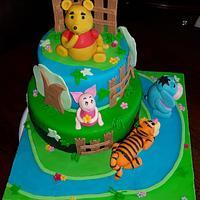 Winnie the Pooh cake.