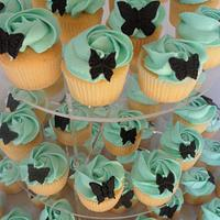 Butterfly mini Cupcakes by Cupcakecreations