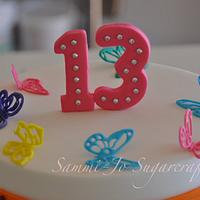 Rainbow butterfly cake by Sammi-Jo Sweet Creations