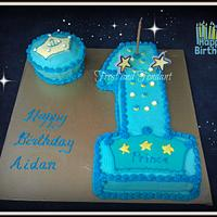Blue Prince 1st Birthday and Smash Cake