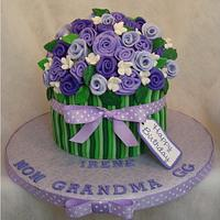Bouquet of Purple Long Stem Roses by Toni (White Crafty Cakes)