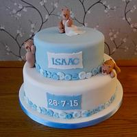 Teddy's christening cake