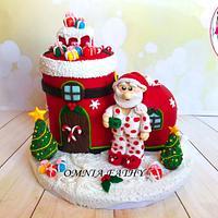 Santa Claus 🎅  boot cake
