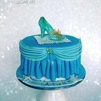 New Cinderella Glass Slipper Cake