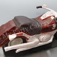 Dimensional Harley Davidson Cake by It'z My Party Cakery