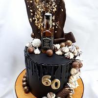 birthday ganache cake