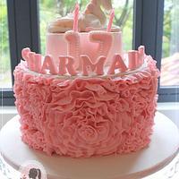 Unicorn 17th birthday cake