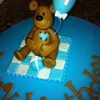 Little boy teddy bear cake