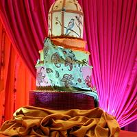 Moroccan Bird Cage and Tapestry Cake