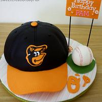 Orioles Baseball cap cake by SweetCreationsbyFlor