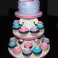Enchanted Unicorn Cupcake Tower