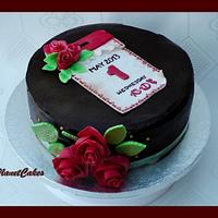 Calendar Card Anniversary Cake