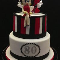 Betty Boop 80th Birthday Cake