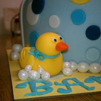 Rubber Duckie Baby Shower Cake by Peggy
