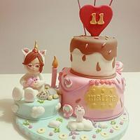 Unicorn Fantasy Cake/ Tarta Unicornio de Fantasía