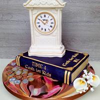 Belleek Pottery Clock Cake.