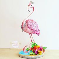 Margo the mingo (Standing Flamingo Cake)