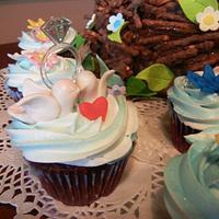 LOVE BIRDS ENGAGEMENT CAKE by Fun Fiesta Cakes