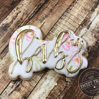 Floral baby shower cookie