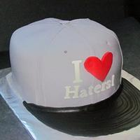"""I heart Haters"" hat"