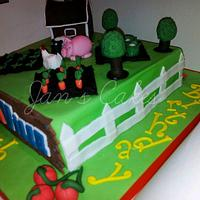 Farmville Birthday cake by Jan